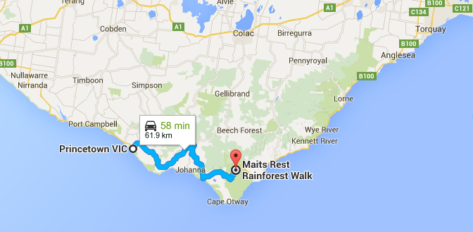 Princetown to Maits Rest.png