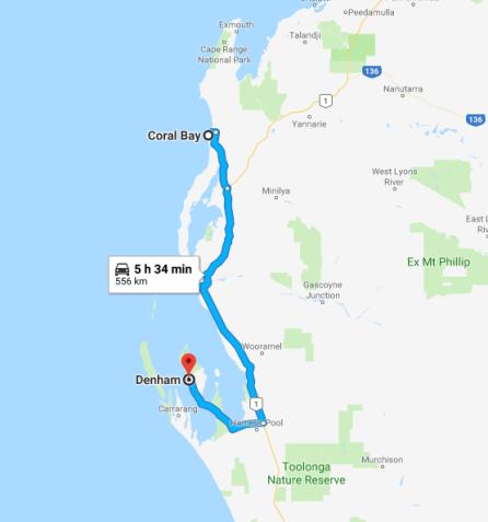 FireShot Capture 008 - coral bay to denham - Google Maps_ - https___www.google.com_maps_dir_co